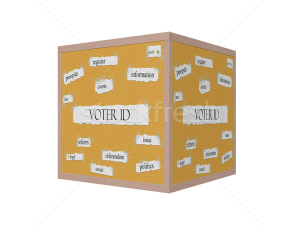 Voter ID 3D Corkboard Word Concept Stock photo © mybaitshop