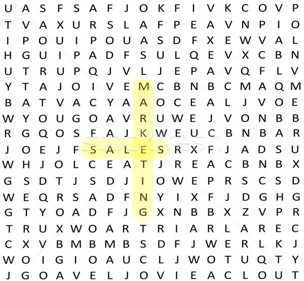 Stock fotó: Eladó · marketing · szó · talál · keresés · puzzle