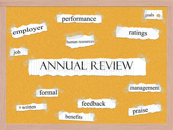 Annual Review Corkboard Word Concept Stock photo © mybaitshop