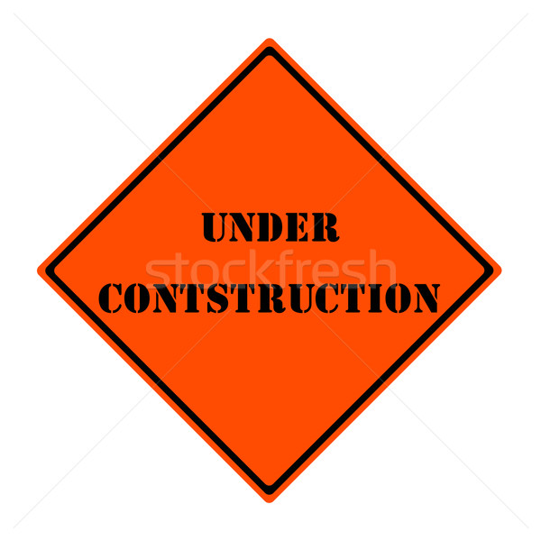 Under Construction Sign Stock photo © mybaitshop