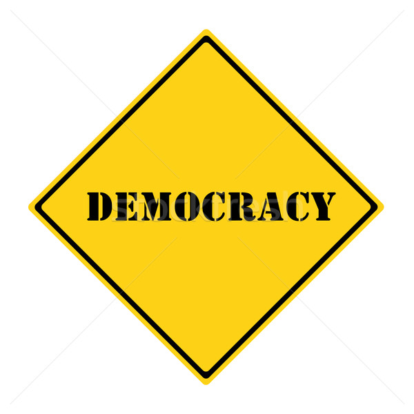 Democracy Sign Stock photo © mybaitshop