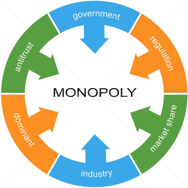 Monopole mot cercle magnifique gouvernement réglementation Photo stock © mybaitshop
