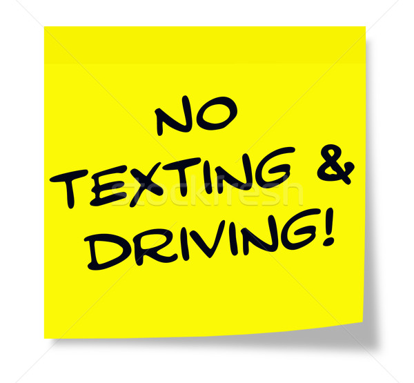 No Texting and Driving Sticky Note Stock photo © mybaitshop