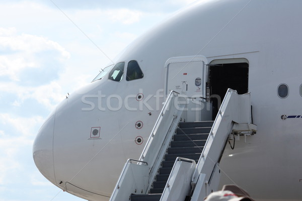 Stairs for boarding Airplane Stock photo © mybaitshop