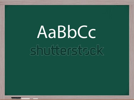 Upper and Lower Case ABC's Stock photo © mybaitshop
