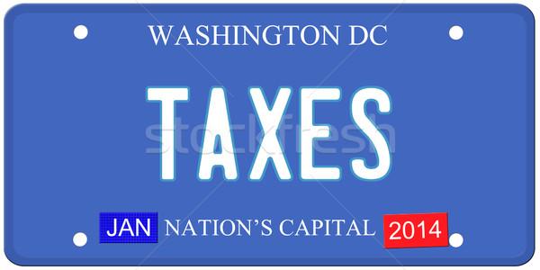 Washington DC placa imitação escrito 2014 Foto stock © mybaitshop