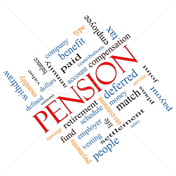 Pension Word Cloud Concept Angled Stock photo © mybaitshop