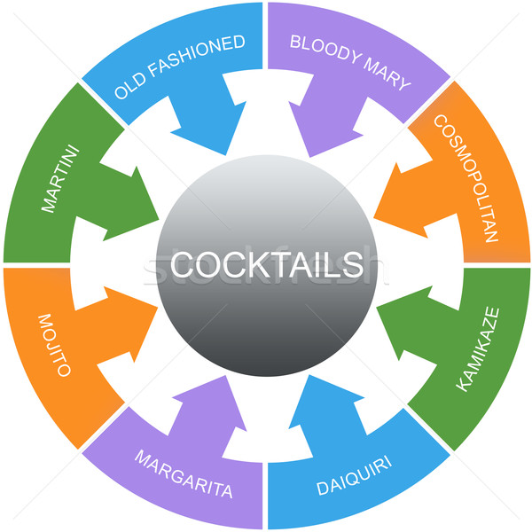 Cocktails Word Circles Concept Stock photo © mybaitshop