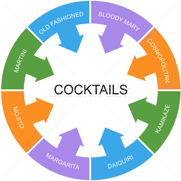 Cocktails Word Circle Concept Stock photo © mybaitshop