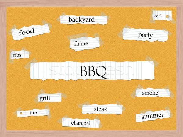 Barbacoa nube de palabras parrilla filete Foto stock © mybaitshop