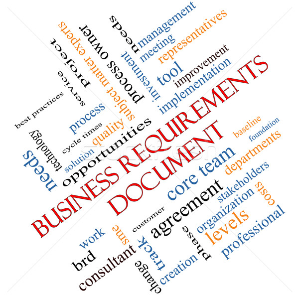 Business documento word cloud soluzione qualità Foto d'archivio © mybaitshop