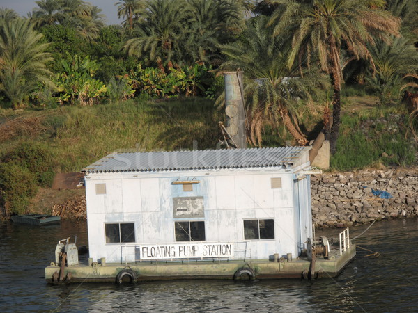 Floating Pumping Station on the Nile River in Egypt Stock photo © mybaitshop