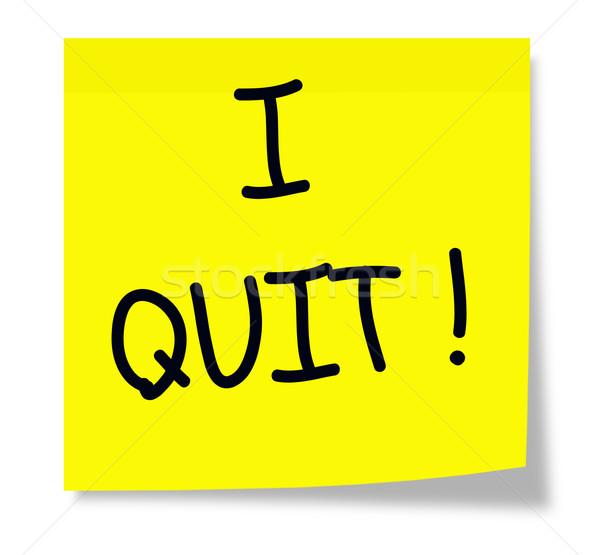 I Quit on a yellow sticky pad. Stock photo © mybaitshop
