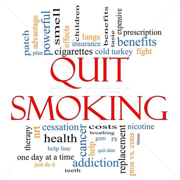 Stock photo: Quit Smoking Word Cloud Concept