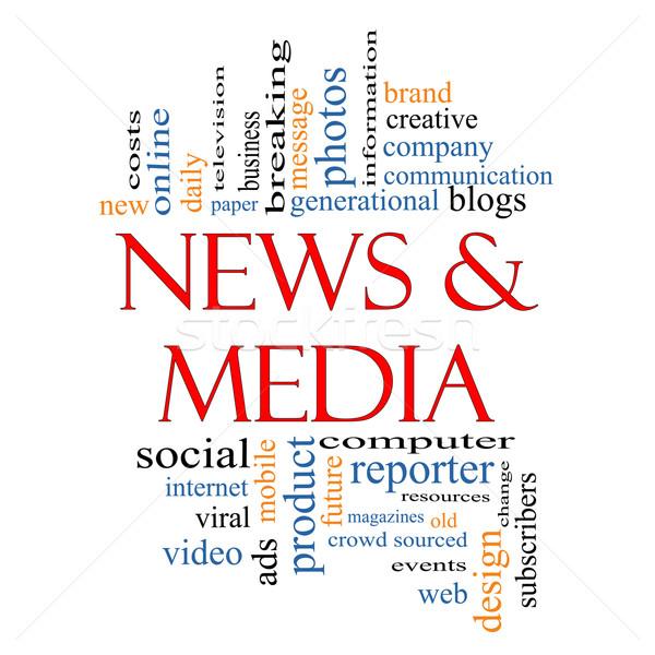 News and Media Word Cloud Concept Stock photo © mybaitshop