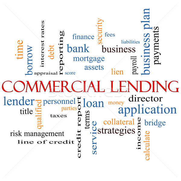 Commercial Lending Word Cloud Concept Stock photo © mybaitshop