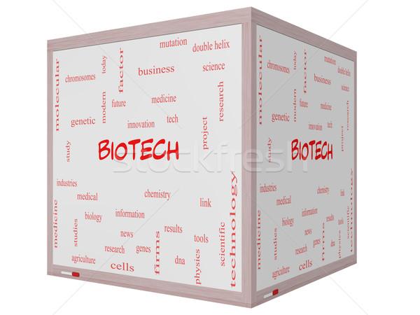Biotech word cloud 3D cubo Foto d'archivio © mybaitshop
