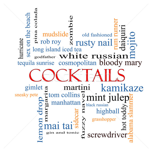 Cocktails Word Cloud Concept Stock photo © mybaitshop
