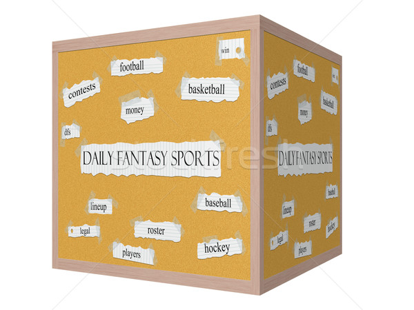 Daily Fantasy Sports 3D Corkboard Word Concept Stock photo © mybaitshop