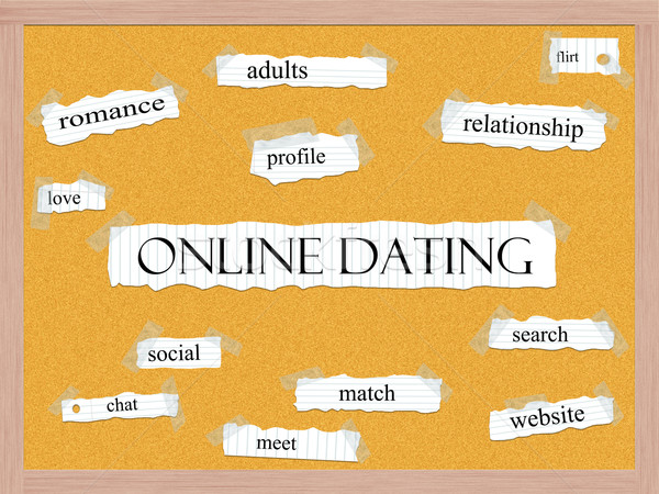Online Dating Corkboard Word Concept Stock photo © mybaitshop
