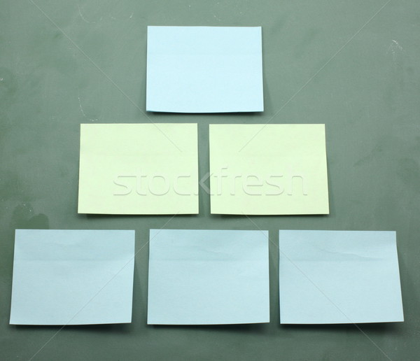 Sticky Notes Organization Chart Template Stock photo © mybaitshop