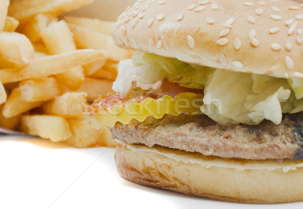 Burger and Fries Stock photo © mybaitshop