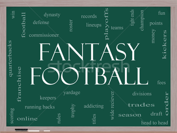 Fantasy Football Word Cloud Concept on a Blackboard Stock photo © mybaitshop