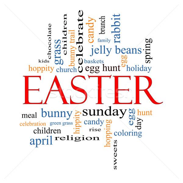 Easter Word Cloud Concept Stock photo © mybaitshop