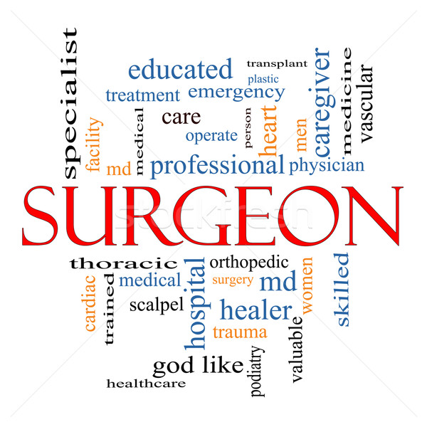 Sebész szófelhő nagyszerű műtét ortopéd nők Stock fotó © mybaitshop