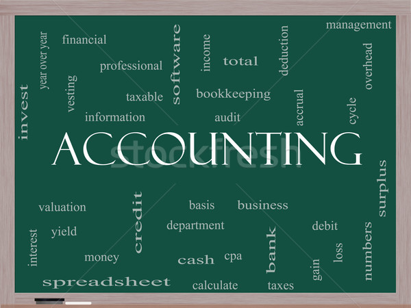 Accounting Word Cloud Concept on a Blackboard Stock photo © mybaitshop