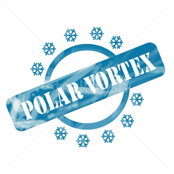 Blu intemperie polare vortice timbro cerchio Foto d'archivio © mybaitshop