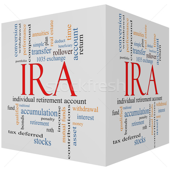 IRA 3D cube Word Cloud Concept Stock photo © mybaitshop