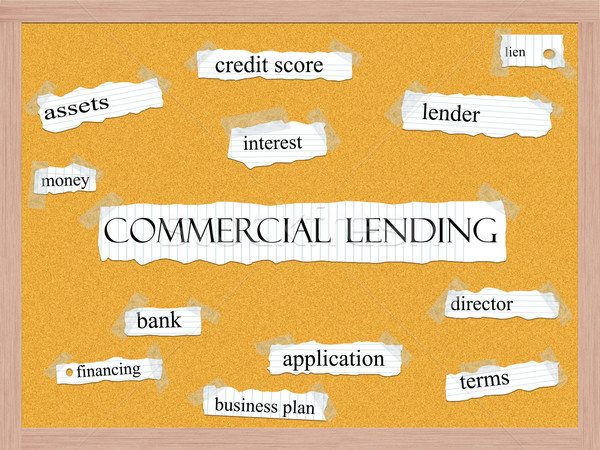 Commercial Lending Corkboard Word Concept Stock photo © mybaitshop