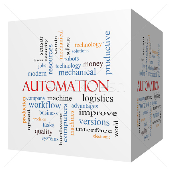 Automation 3D cube Word Cloud Concept Stock photo © mybaitshop