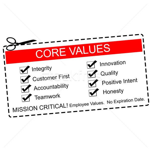 Core Values Coupon Concept Stock photo © mybaitshop