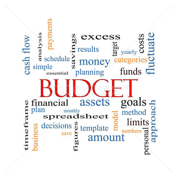 Presupuesto nube de palabras objetivos más Foto stock © mybaitshop