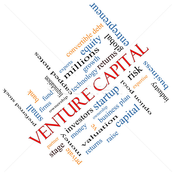 Venture Capital Word Cloud Concept Angled Stock photo © mybaitshop