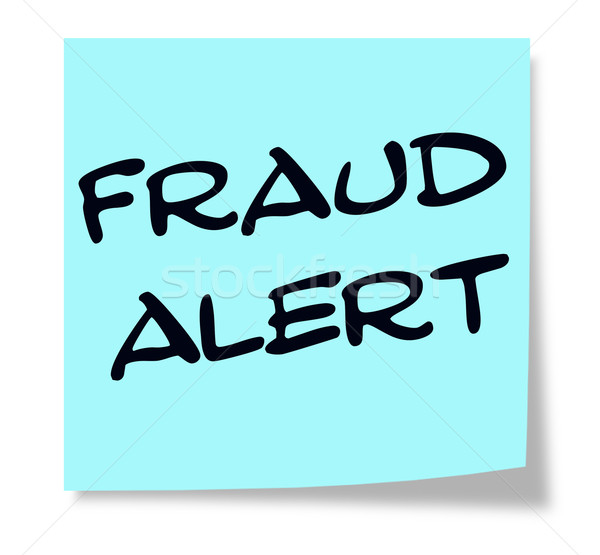Fraud Alert blue sticky note Stock photo © mybaitshop