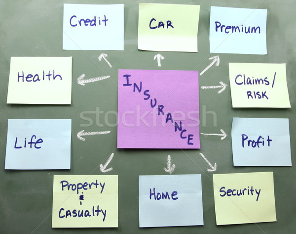 Insurance concept map on a blackboard Stock photo © mybaitshop