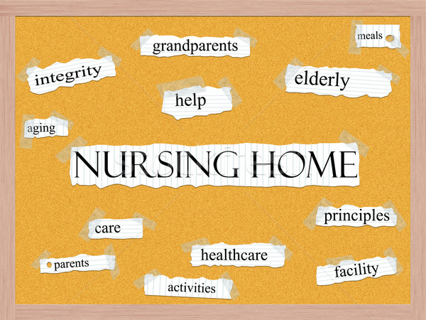 Nursing Home Corkboard Word Concept Stock photo © mybaitshop