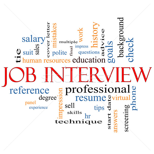 Job Interview Word Cloud Concept Stock photo © mybaitshop