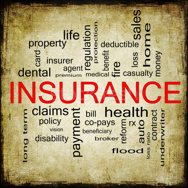 Grunge Insurance Word Cloud Concept Stock photo © mybaitshop