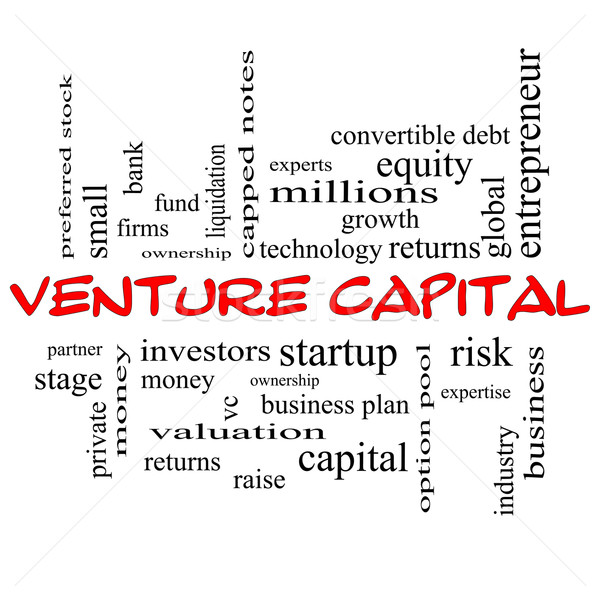 Venture Capital Word Cloud Concept in red caps Stock photo © mybaitshop