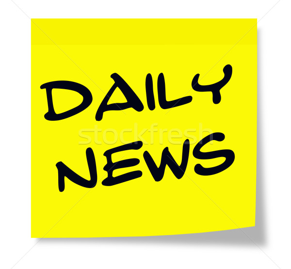 Daily News Sticky Note Stock photo © mybaitshop