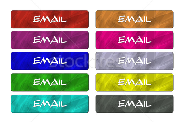 Ten Email Buttons Stock photo © mybaitshop