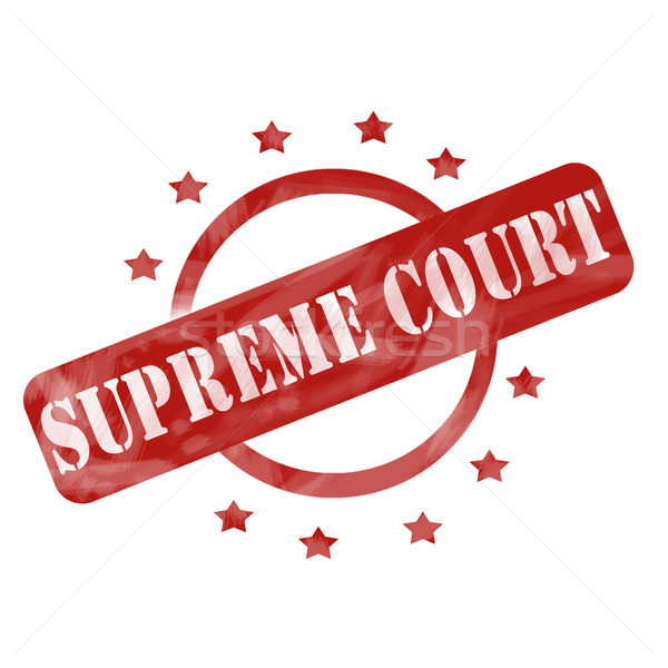 Red Weathered Supreme Court Stamp Circle and Stars design Stock photo © mybaitshop