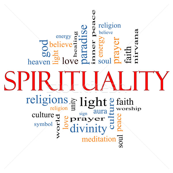 Spirituality Word Cloud Concept Stock photo © mybaitshop