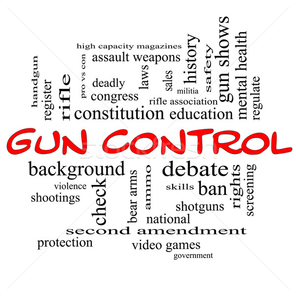 Gun Control Word Cloud Concept in Red Caps Stock photo © mybaitshop