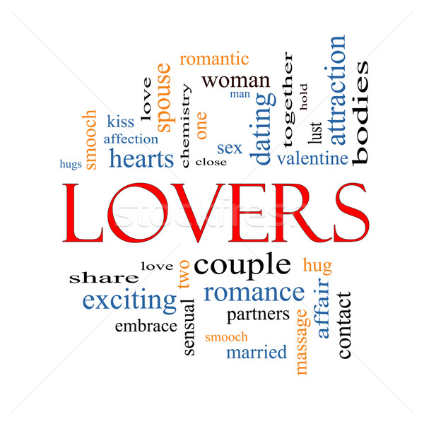 Lovers Word Cloud Concept Stock photo © mybaitshop