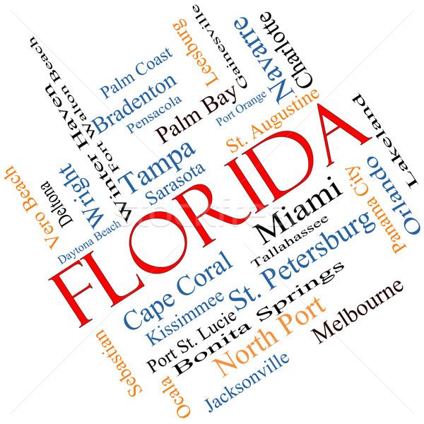 Florida nube de palabras 30 ciudades Miami Foto stock © mybaitshop